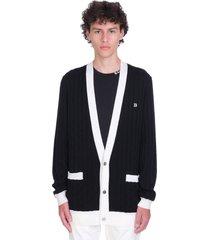 balmain cardigan in white wool
