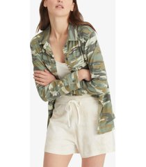 sanctuary camo-print boyfriend shirt