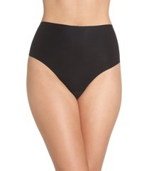 women's chantelle intimates soft stretch seamless retro thong, size one size - black