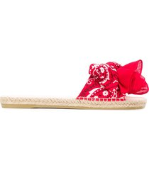 manebi bandana-print slides - red