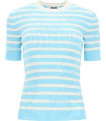 msgm monogram striped sweater