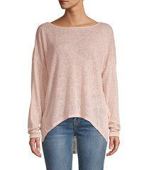 high-low boatneck top