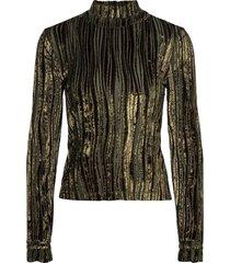 manila, 910 velvet devoré t-shirts & tops long-sleeved goud stine goya