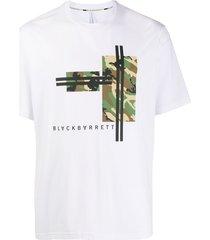 blackbarrett short sleeve military print t-shirt - white
