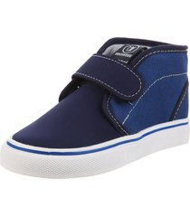 zapatilla azul prowess botita lona