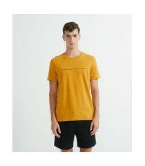 camiseta manga curta em algodão estampada | request | amarelo | p
