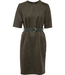 abito in similpelle con cintura (verde) - bodyflirt