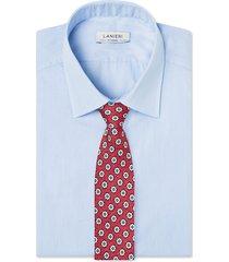 cravatta su misura, lanieri, roma seta rosso, quattro stagioni