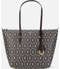 lauren ralph lauren women's merrimack tote bag - black mini chain link