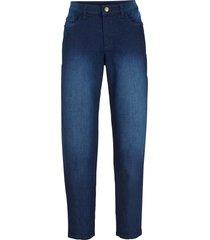 jeans in cotone elasticizzato relaxed con cinta comoda (blu) - bpc bonprix collection