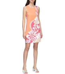 emilio pucci dress emilio pucci long dress in jersey with vahiné print