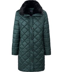 doorgestikte jas met blinde 2-weg-ritssluiting van basler groen