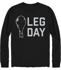 hybrid men's leg day long sleeve t-shirt