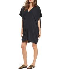 women's hatch slouch dress, size petite - black
