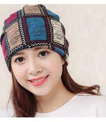 cappello morbido multifunzionale per donna, da donna, in morbido cotone