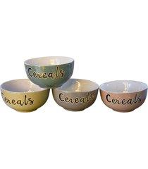 bowl cereals jogo c/4 tigelas kasa ideia - multicolorido - dafiti
