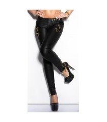 sexy skinny jeans met ritssluitingen zwart