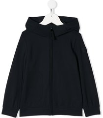 il gufo high-collar zipped hoodie - blue