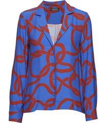 nico, 417 maze viscose blouse lange mouwen blauw stine goya