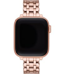 kate spade new york scallop apple watch(r) bracelet in rose gold at nordstrom
