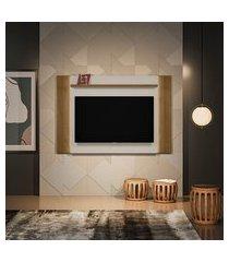 painel para tv até 60 polegadas aurora com led avelã e off white