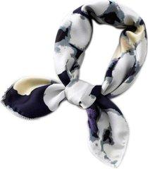 lenço bandana estampado artestore abstrato flores azul escuro