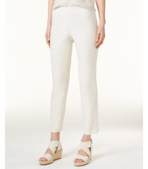 eileen fisher system washable crepe slim-leg ankle pants, regular & petite