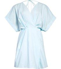 rachel comey arco tie back surplice dress, size 8 in spa blue at nordstrom