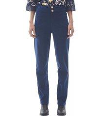 pantalon elasticado mujer navy corona