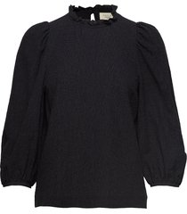 carly puff sleeve top t-shirts & tops long-sleeved zwart mayla stockholm