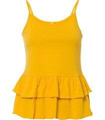 top con balze (giallo) - rainbow