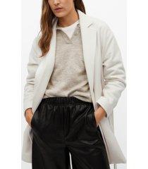 mango women's woolen blazer-style coat