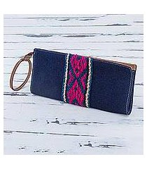 cotton wristlet, 'andean navy' (peru)