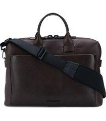 troubadour generation pathfinder slim briefcase - brown