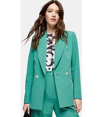 mint double breasted blazer - mint