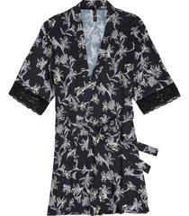 kimono in satin (nero) - bodyflirt