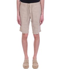 z zegna shorts in beige linen