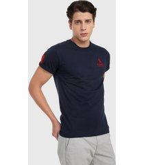 camiseta azul oscuro-rojo royal county of berkshire polo club