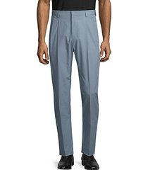 pleated cotton dress pants