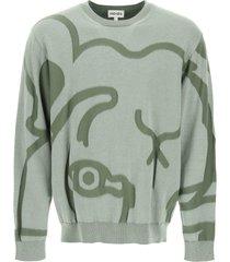 kenzo k-tiger crewneck sweater