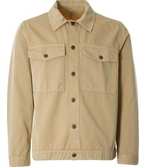 nudie jeans colin utility overshirt   oat   140655-oat