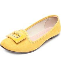 zapato plano amarillo moleca