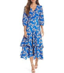 women's eliza j faux wrap maxi dress