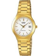 mtp-1170n-7a reloj casio analogo dorado  con calendario para hombre 100% original.