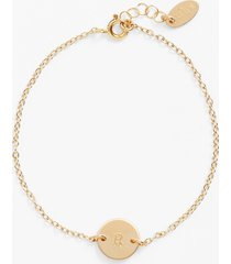 women's nashelle initial mini disc bracelet