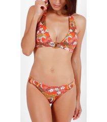 bikini admas ensemble 2 pièces bikini dos nu jungle fever orange