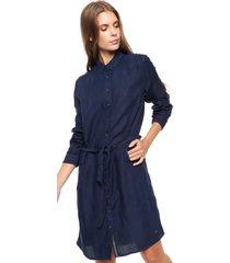 vestido azul tommy hilfiger shirt  nathara