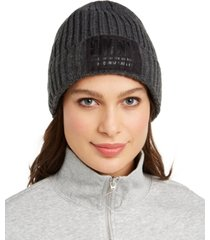 dkny fleece-lined knit beanie