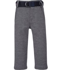 lapin house belted fitted trousers - blue