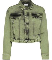 avida jacket jeansjack denimjack groen blanche